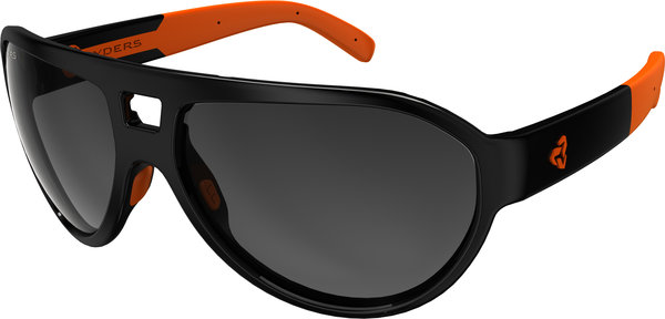 Ryders Eyewear Hiline Color | Lens: Black w/Orange | antiFOG Grey Gradient
