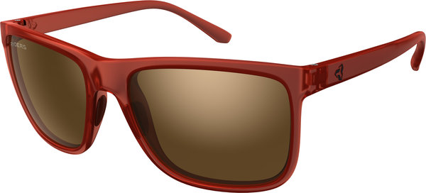 Ryders Eyewear Jackson Color | Lens: Red Crystal | Standard Brown w/Silver Flash
