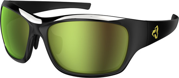 Ryders Eyewear Khyber Color | Lens: Black | Standard Green w/Gold Flash