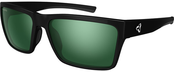 Ryders Eyewear Nelson Color | Lens: Matte Black | Polarized Green w/Silver Flash