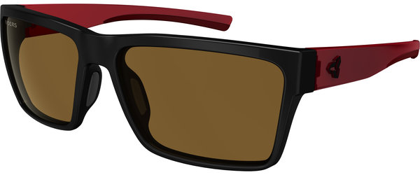 Ryders Eyewear Nelson Color | Lens: Black w/Dark Red | Standard Brown