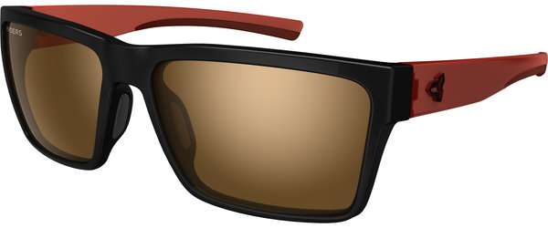 Ryders Eyewear Nelson Color | Lens: Black w/Dark Red | antiFOG Brown w/Silver Flash
