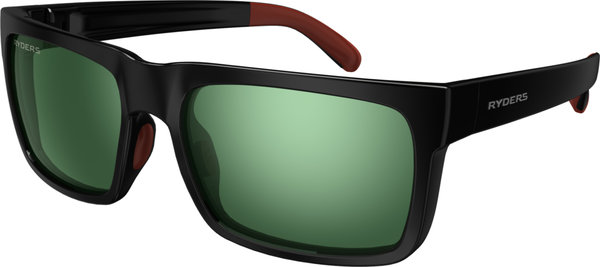 Ryders Eyewear Pemby Color | Lens: Black w/Red | antiFOG Green w/Silver Flash