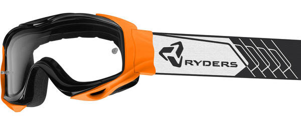 Ryders Eyewear Shore MTB Goggle Color | Lens: Black/Orange | Clear