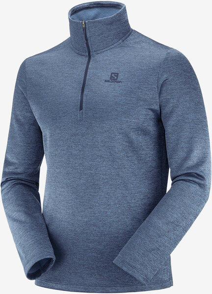 Salomon Transition Half Zip Mid M Color: Night Sky/Heather