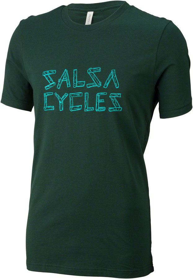 Salsa Barnwood Logo T-Shirt Color: Green