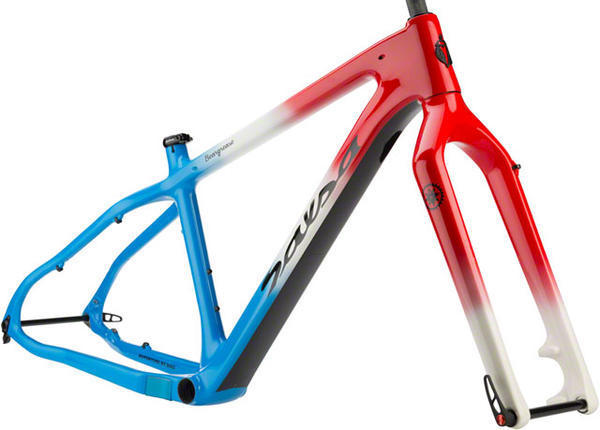 Salsa Beargrease Carbon Frameset Color: Red/White/Blue Fade