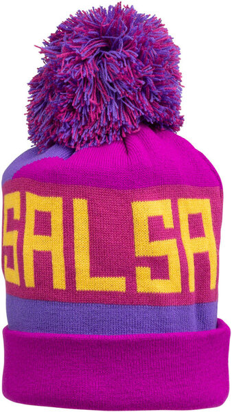 Salsa Beargrease Pom Beanie Color: Purple/Magenta/Blue/Yellow