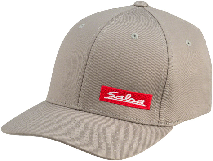 Salsa Flexfit Script Cap Color: Gray/Red