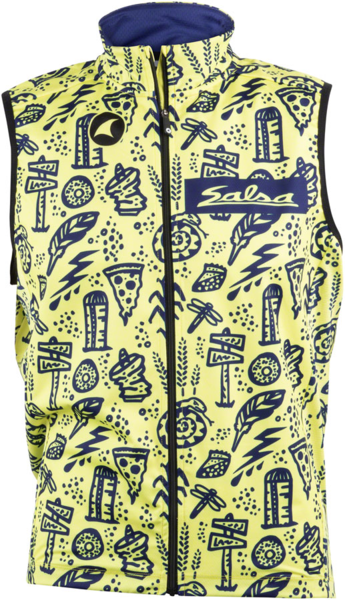 Salsa Gravel Story Vest Color: Yellow/Dark Blue