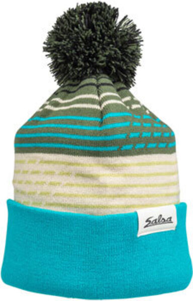 Salsa Juniper Pom Beanie Color: Teal/Sage/Tan/Green