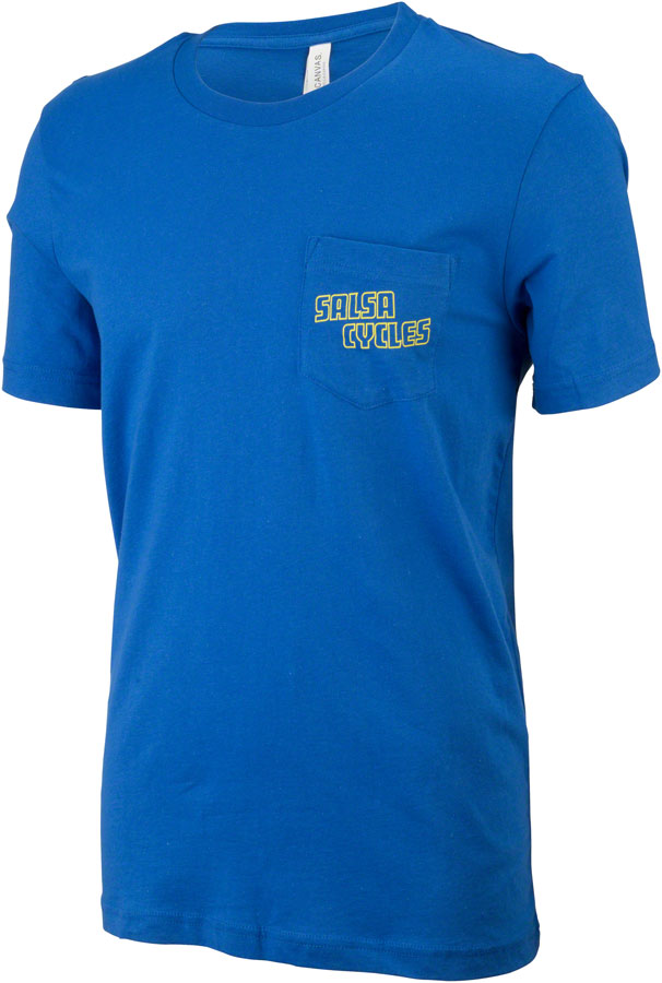 Salsa Logo Pocket T-Shirt Color: Bright Blue