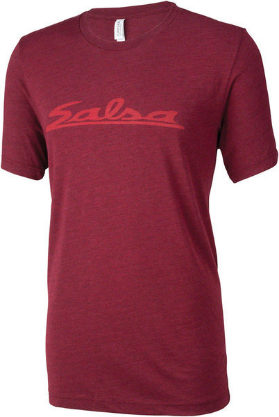 Salsa Logo T-Shirt Color: Burgundy