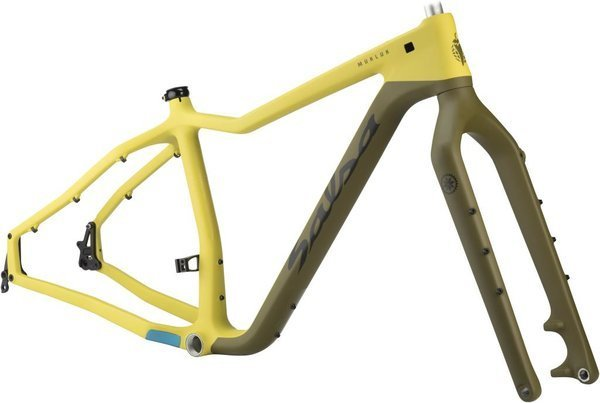 Salsa Mukluk Carbon Frameset Color: Yellow/Olive