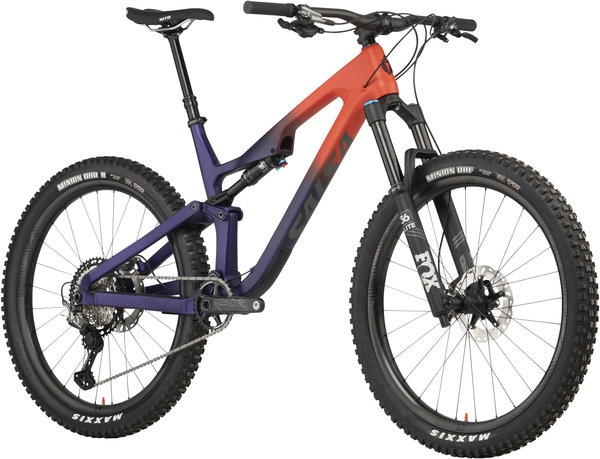 Salsa Rustler Carbon XTR Color: Orange/Purple Fade