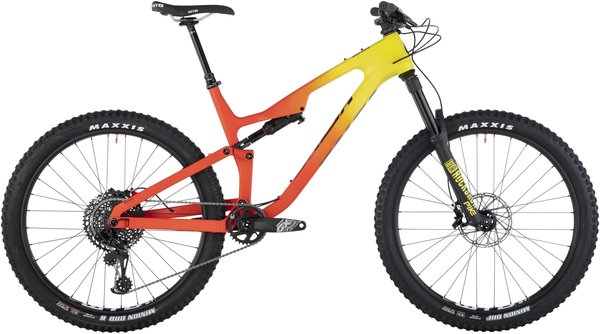 Salsa Rustler Carbon GX Eagle Color: Red/Yellow Fade