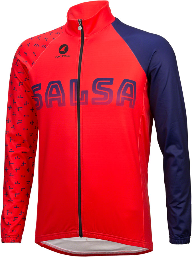 Salsa Team Kit Long Sleeve Jersey Color: Dark Blue/Red