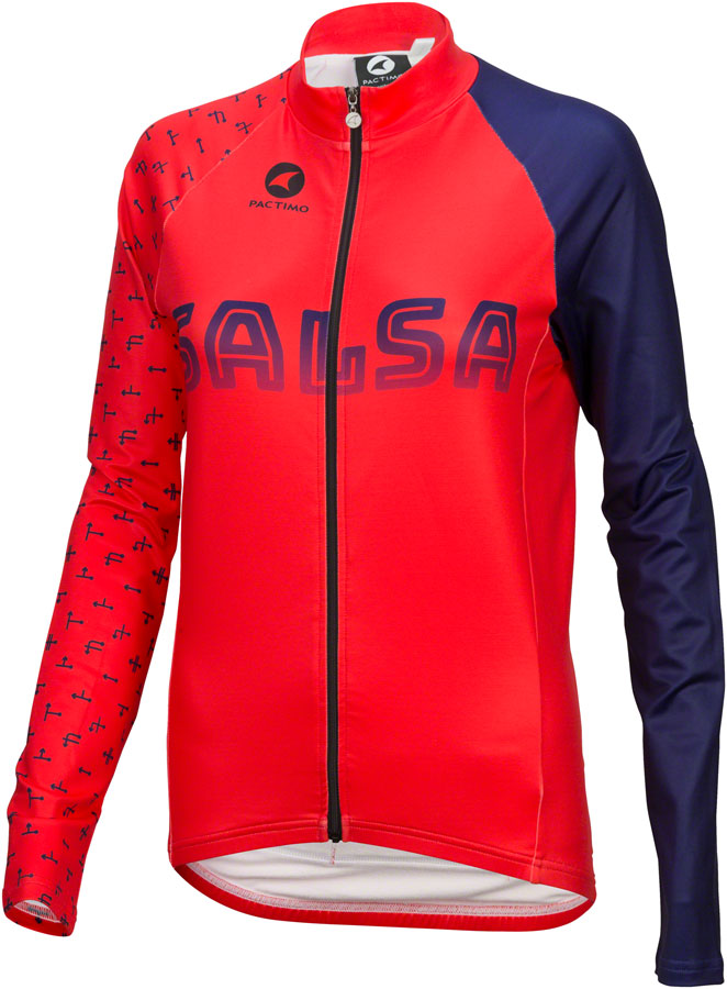 Salsa Team Kit Women's Long Sleeve Jersey Color: Dark Blue/Red