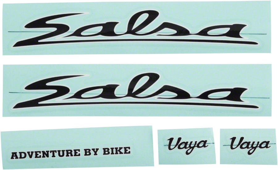 Salsa Vaya Travel Decal Set Color: Black