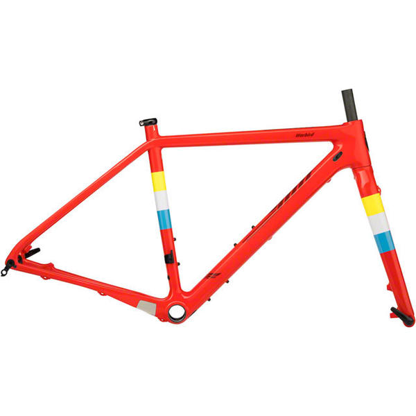 Salsa Warbird Carbon Frameset Color: Hot Red