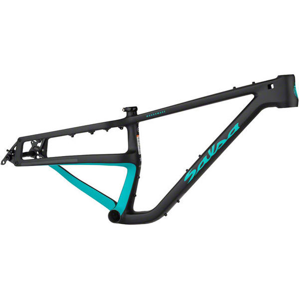 Salsa Woodsmoke Frame Color: Black/Teal