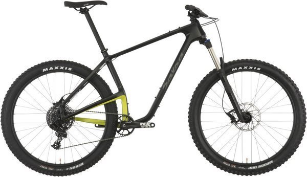Salsa Woodsmoke NX1 27.5+ Color: Black/Lime Green