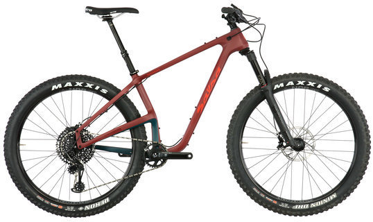 Salsa Woodsmoke X01 Eagle 27.5+ Color: Matte Maroon/Navy