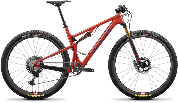 Santa Cruz Blur Carbon CC XTR TR Reserve Color: Sunset and Eggplant