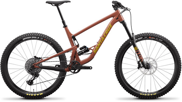 Santa Cruz Bronson Aluminum S+ Color: Red Tide/Yellow