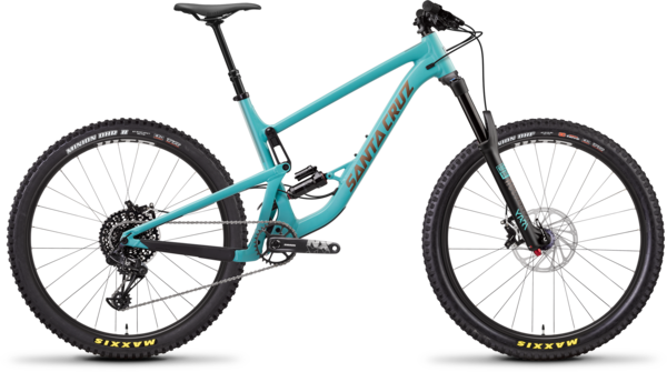 Santa Cruz Bronson Aluminum R Color: Industry Blue/Gold