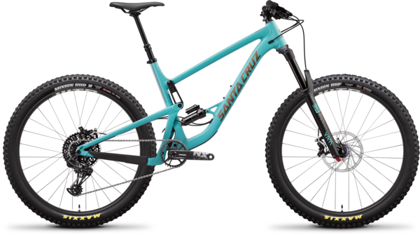 Santa Cruz Bronson Aluminum R+ Color: Industry Blue/Gold
