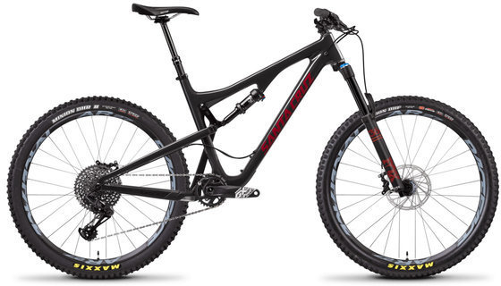 Santa Cruz Bronson S Aluminum Color: Gloss Carbon and Sriracha