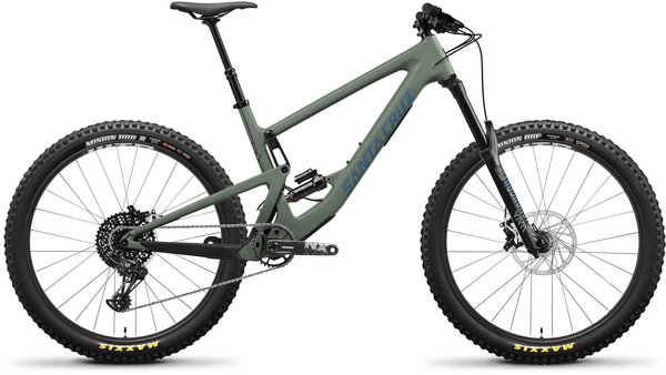 Santa Cruz Bronson Carbon C R+ Color: Matte Olive/Blue