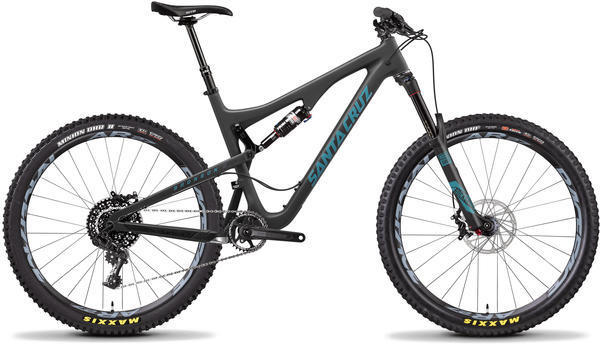 Santa Cruz Bronson C S Color: Matte Carbon/Slate Blue