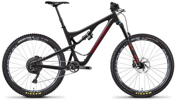 Santa Cruz Bronson XE Carbon C Color: Gloss Carbon and Sriracha