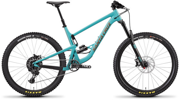 Santa Cruz Bronson Carbon CC XTR+ Reserve Color: Industry Blue and Gold