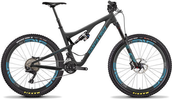Santa Cruz Bronson CC XT Color: Matte Carbon/Slate Blue
