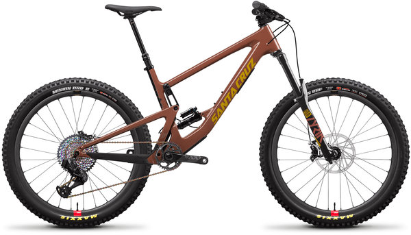 Santa Cruz Bronson Carbon CC XX1+ AXS Reserve Color: Red Tide/Yellow