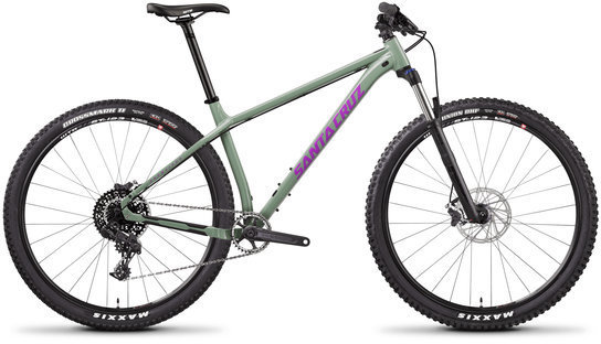 Santa Cruz Chameleon 29 D Aluminum Color: Gloss Green and Purple