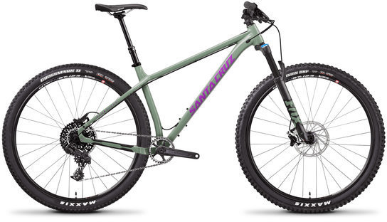 Santa Cruz Chameleon 29 R Aluminum Color: Gloss Green and Purple