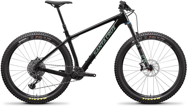 Santa Cruz Chameleon Carbon C S+ Color: Gloss Carbon and Green