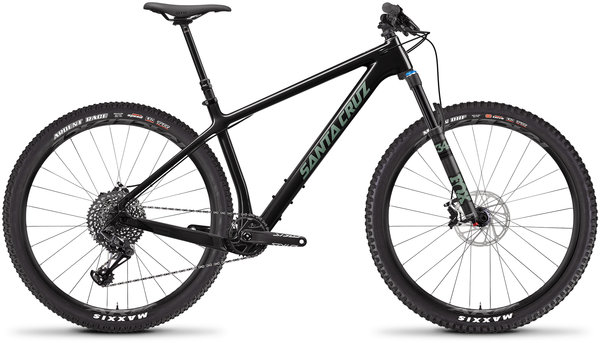 Santa Cruz Chameleon Carbon C S Color: Gloss Carbon and Green