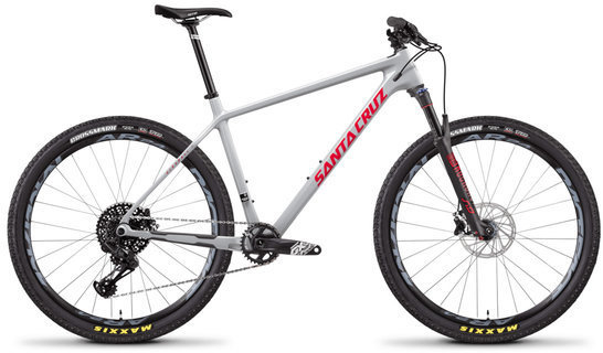 Santa Cruz Highball 27.5 S Carbon C Color: Gloss Grey and Red
