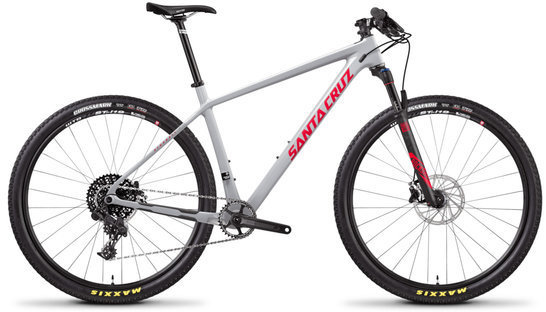 Santa Cruz Highball 29 R Carbon C Color: Gloss Grey and Red