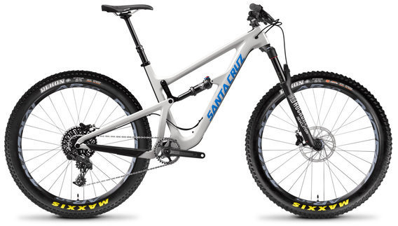 Santa Cruz Hightower R Carbon C 27+ Color: Gloss Cannery Grey and Blue