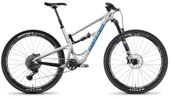 Santa Cruz Hightower 29 S Carbon C Color: Gloss Cannery Grey and Blue