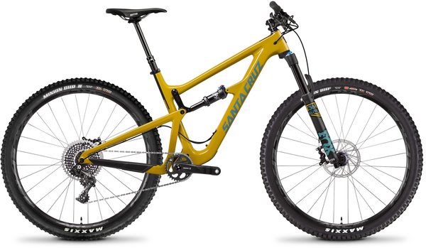 Santa Cruz Hightower Carbon CC X01 Color: Mustard/Slate Blue