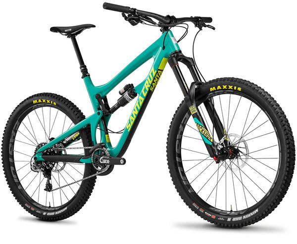 Santa Cruz Nomad CC Color: Gloss Emerald/Yellow