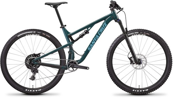 Santa Cruz Tallboy Aluminum D Color: Forest Green/Baby Blue