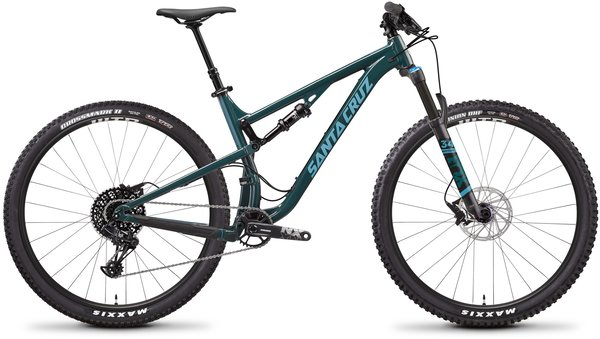 Santa Cruz Tallboy Aluminum R Color: Forest Green/Baby Blue